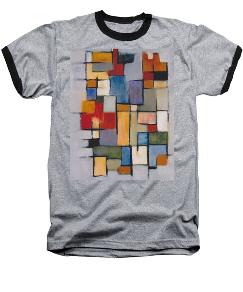 Abstract Line Series  Baseball T-Shirt by Patricia Cleasby