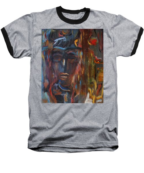 Abstract Man Baseball T-Shirt
