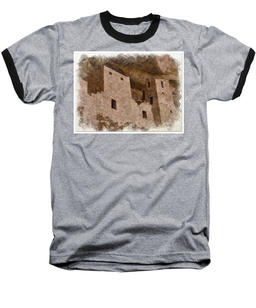 Baseball T-Shirt featuring the photograph Abstract Mesa Verde by Debby Pueschel