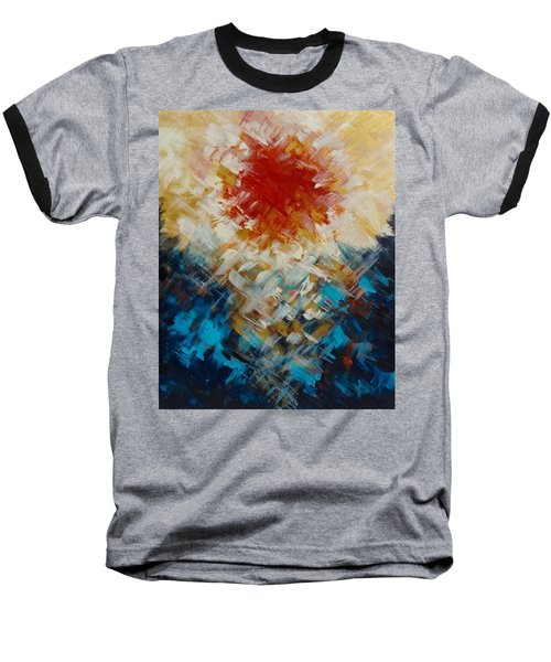 Abstract Blood Moon Baseball T-Shirt