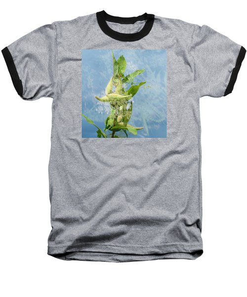 Abstract Milkweed Baseball T-Shirt