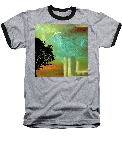 Abstract Modern Art Eternity Baseball T-Shirt by Saribelle Rodriguez