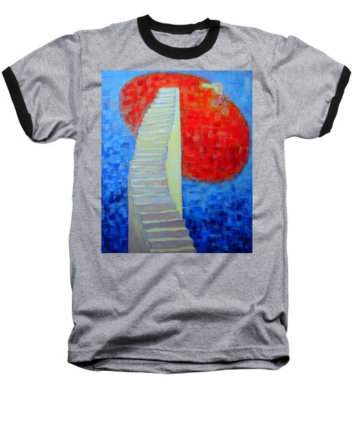 Baseball T-Shirt featuring the painting Abstract Moon by Ana Maria Edulescu