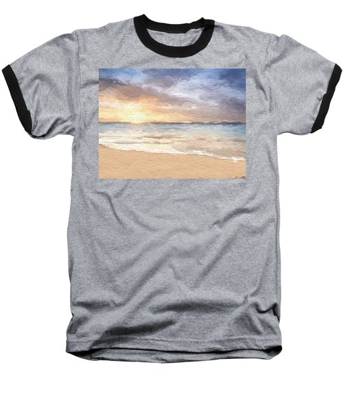 Abstract Morning Tide Baseball T-Shirt by Anthony Fishburne