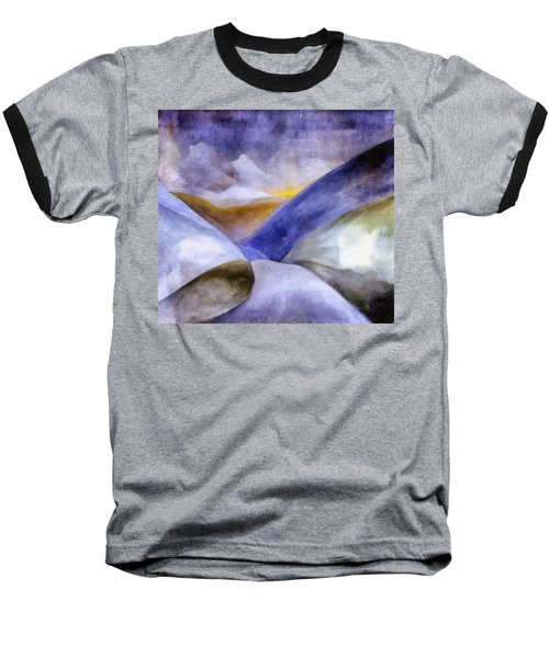 Abstract Mountain Landscape Baseball T-Shirt