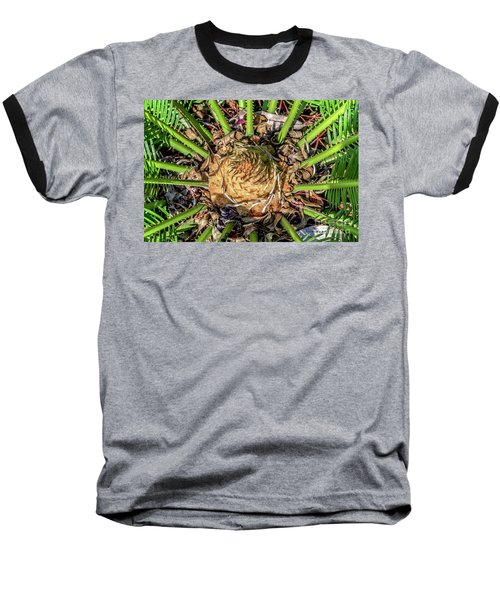 Abstract Nature Tropical Fern 2096 Baseball T-Shirt