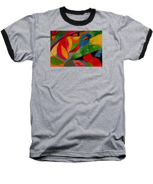 Abstract No. 5 Springtime Baseball T-Shirt by Maria  Disley
