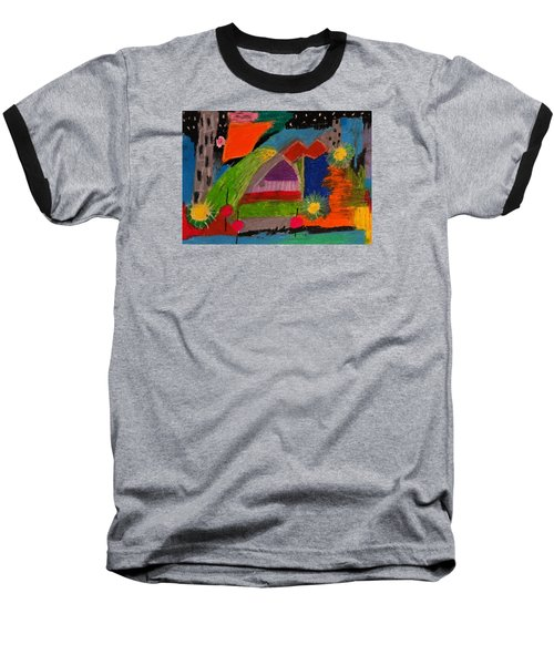 Abstract No. 7 Inner Landscape Baseball T-Shirt