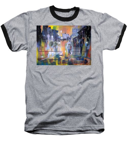 Baseball T-Shirt featuring the painting Abstract Of Motion by Raymond Doward