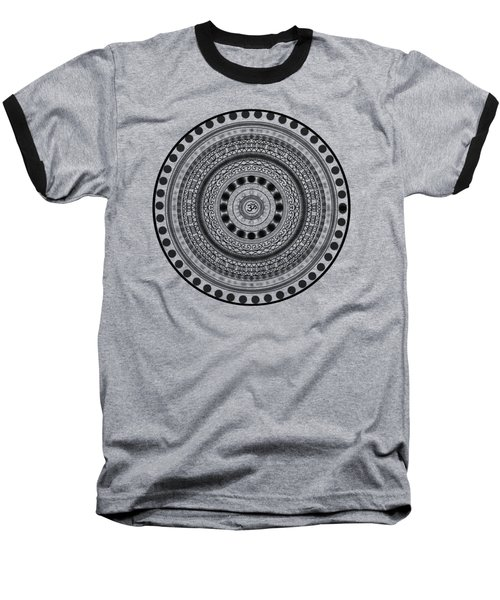 Abstract Om Mandala Baseball T-Shirt
