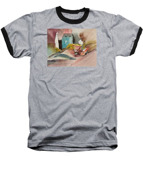 Abstract Opus 3 Baseball T-Shirt by Larry Hamilton