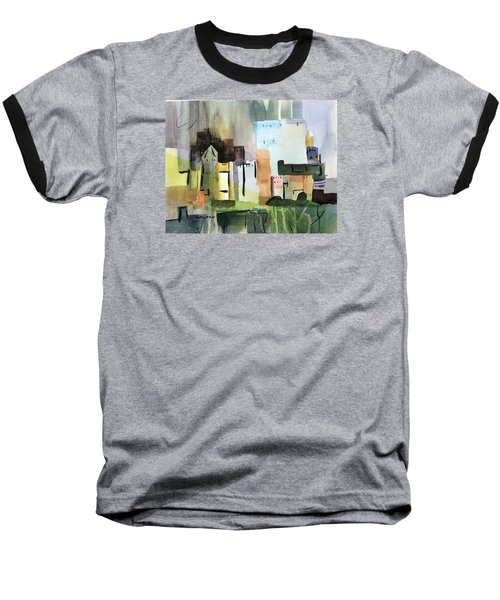 Abstract Opus 5 Baseball T-Shirt by Larry Hamilton