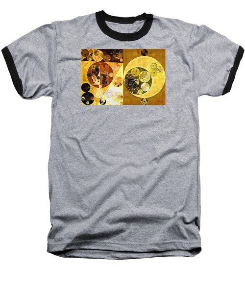 Baseball T-Shirt featuring the digital art Abstract Painting - Golden Brown by Vitaliy Gladkiy