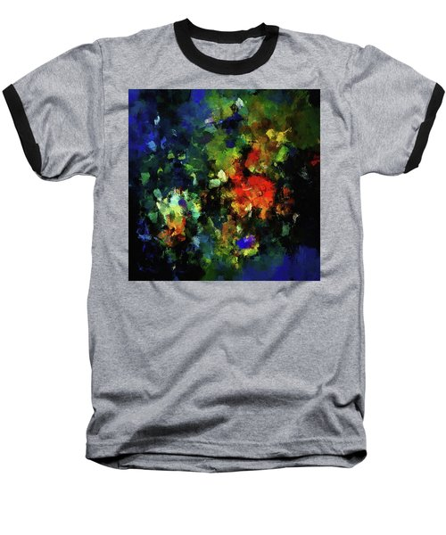 Baseball T-Shirt featuring the painting Abstract Painting In Dark Blue Tones by Ayse Deniz