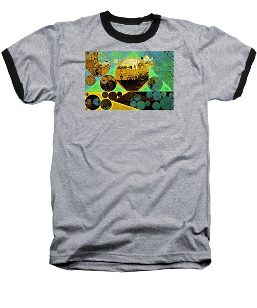 Baseball T-Shirt featuring the digital art Abstract Painting - Ocean Green by Vitaliy Gladkiy