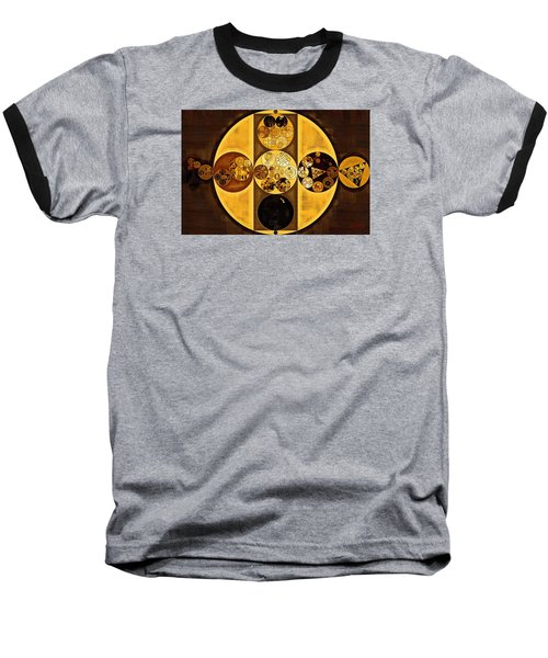 Abstract Painting - Sepia Baseball T-Shirt