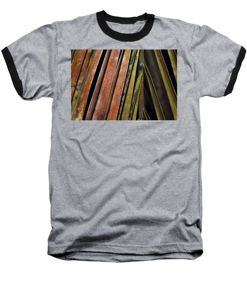 Abstract Palm Frond Baseball T-Shirt