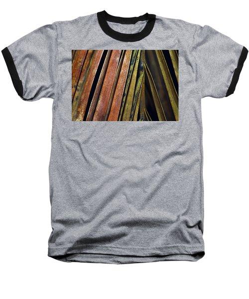 Abstract Palm Frond Baseball T-Shirt