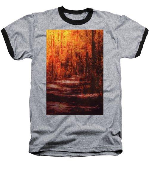 Abstract Path Baseball T-Shirt