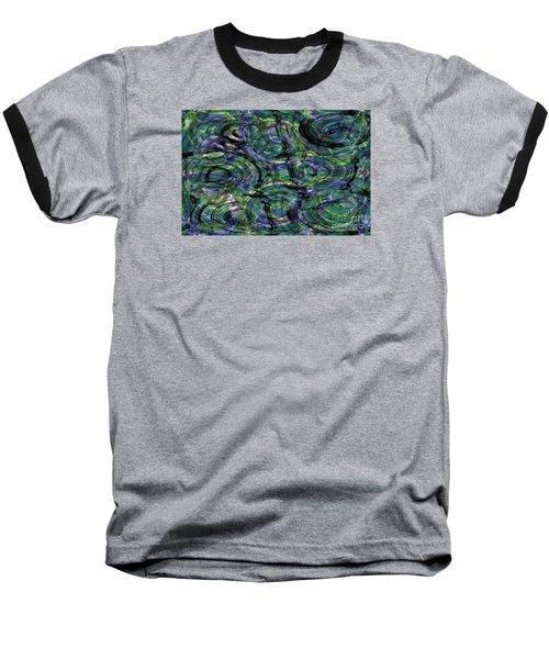 Abstract Pattern 5 Baseball T-Shirt by Jean Bernard Roussilhe