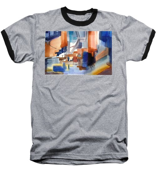 Abstract- Peggy's Cove Baseball T-Shirt by Larry Hamilton