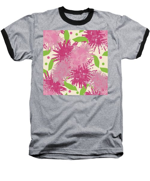 Abstract Pink Puffs Baseball T-Shirt