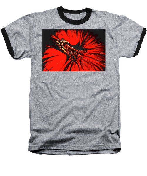 Abstract Pumpkin Stem Baseball T-Shirt