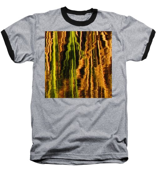 Abstract Reeds Triptych Middle Baseball T-Shirt