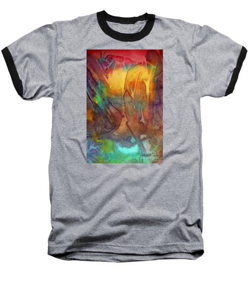 Baseball T-Shirt featuring the painting Abstract Reflection by Allison Ashton
