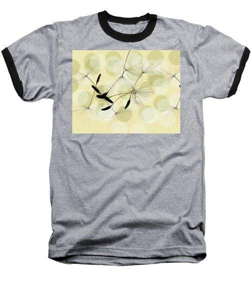 Abstract Botanical Baseball T-Shirt