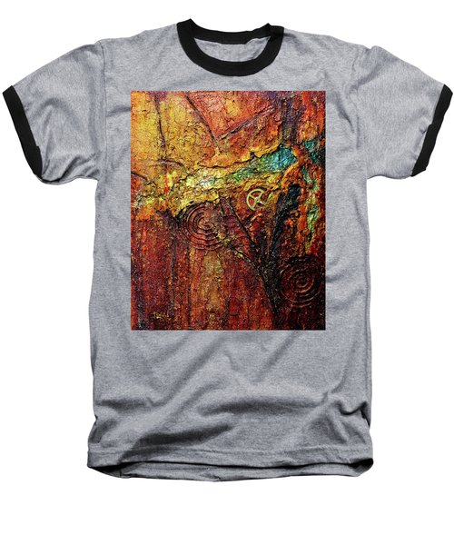 Abstract Rock 2 Baseball T-Shirt