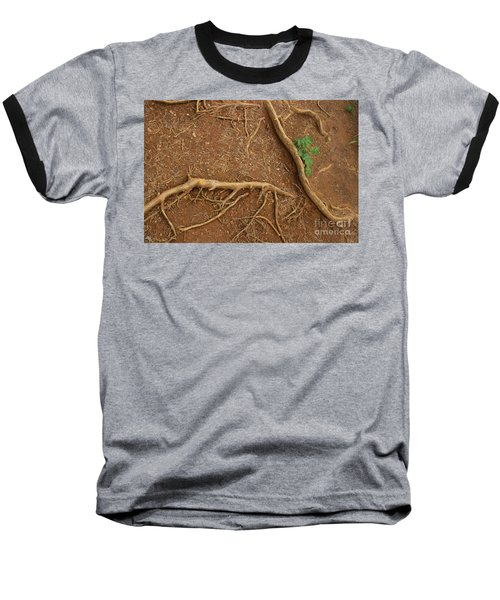 Abstract Roots Baseball T-Shirt
