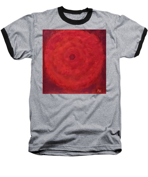 Baseball T-Shirt featuring the painting Abstract Rose by Margaret Harmon