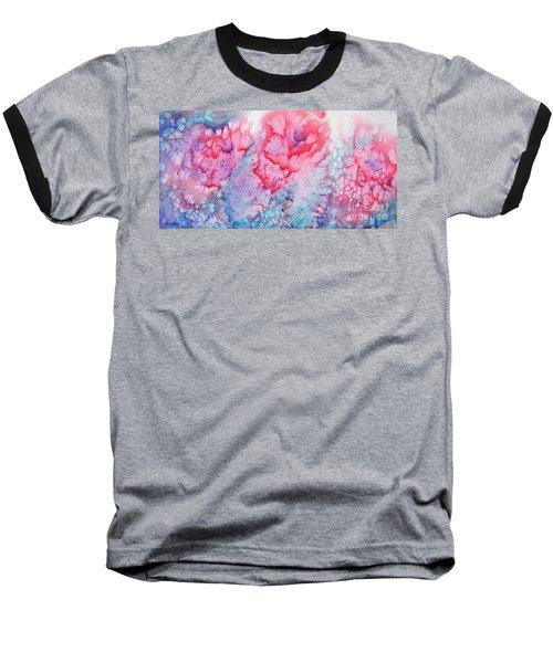 Abstract Roses Baseball T-Shirt