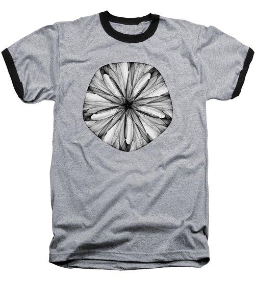 Abstract Sand Dollar Baseball T-Shirt