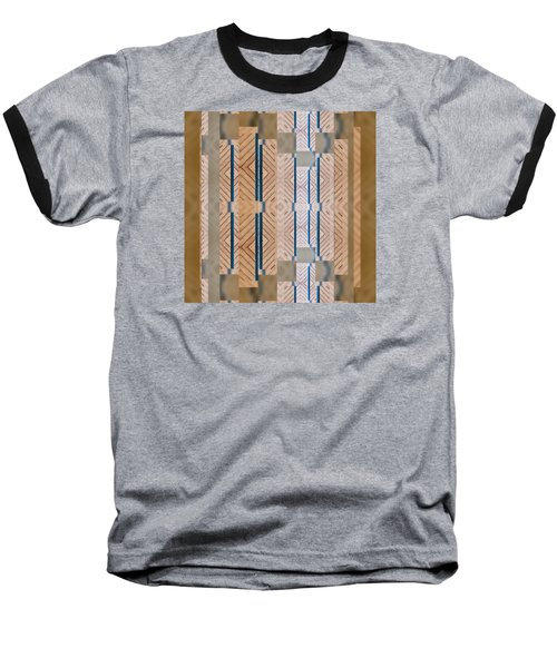 Wood And Blue Baseball T-Shirt by Sandy Taylor
