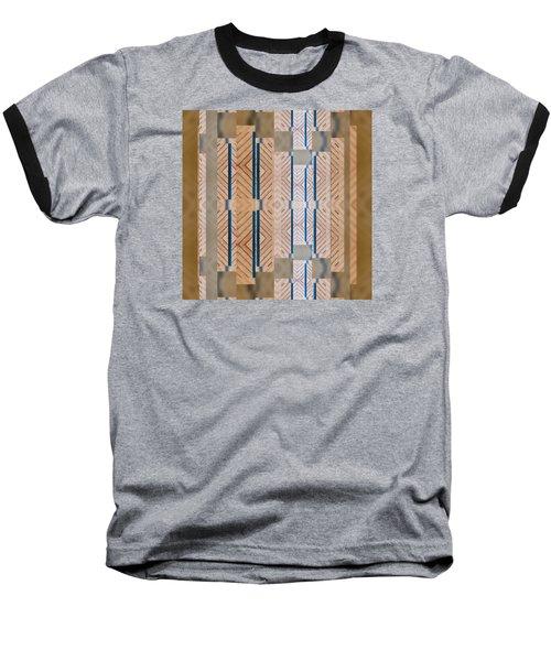 Wood And Blue Baseball T-Shirt
