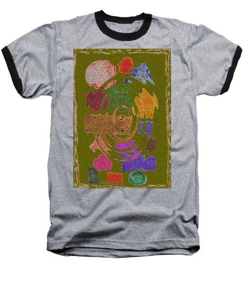 Abstract Shapes Baseball T-Shirt by Joseph Baril