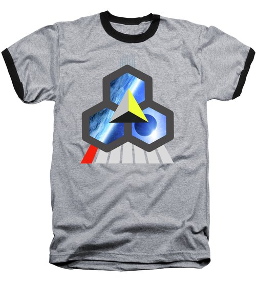 Abstract Space 1 Baseball T-Shirt by Russell K