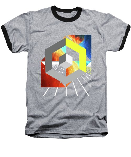 Abstract Space 4 Baseball T-Shirt by Russell K