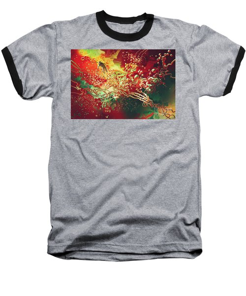 Abstract Space Baseball T-Shirt