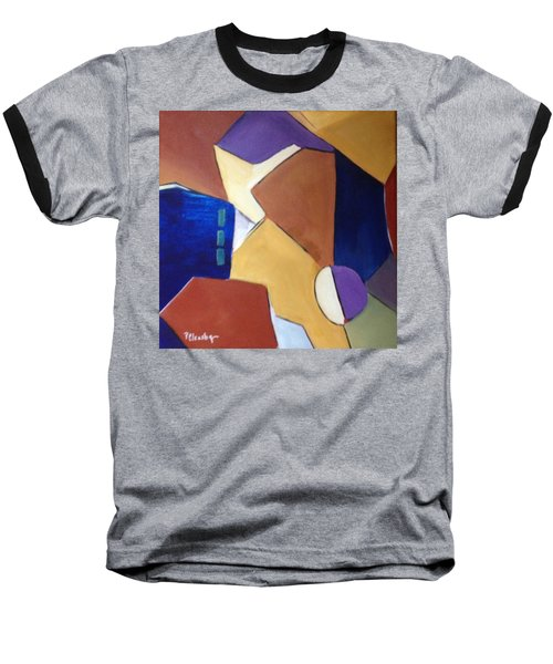 Abstract Square  Baseball T-Shirt by Patricia Cleasby
