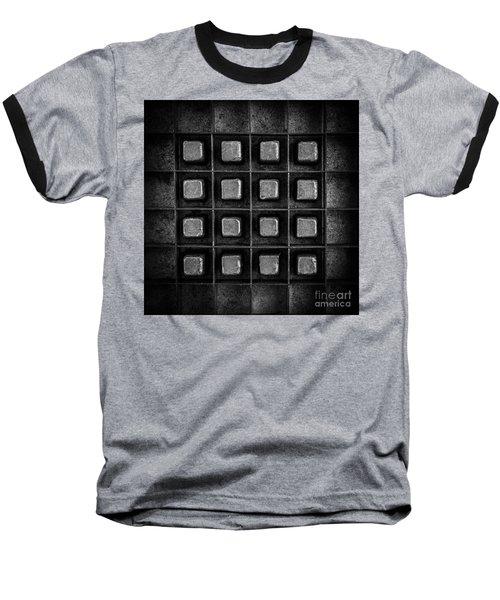 Abstract Squares Black And White Baseball T-Shirt