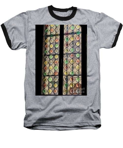 Abstract Stained Glass Baseball T-Shirt by Patricia Hofmeester