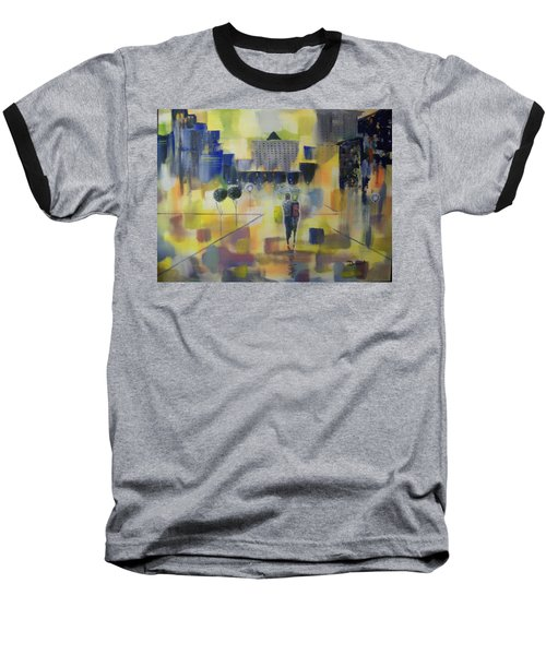 Baseball T-Shirt featuring the painting Abstract Stroll by Raymond Doward