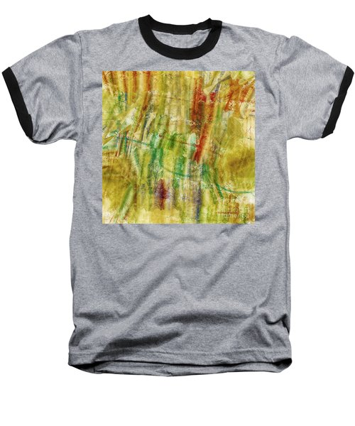 Baseball T-Shirt featuring the digital art Abstract Sunday by Deborah Benoit