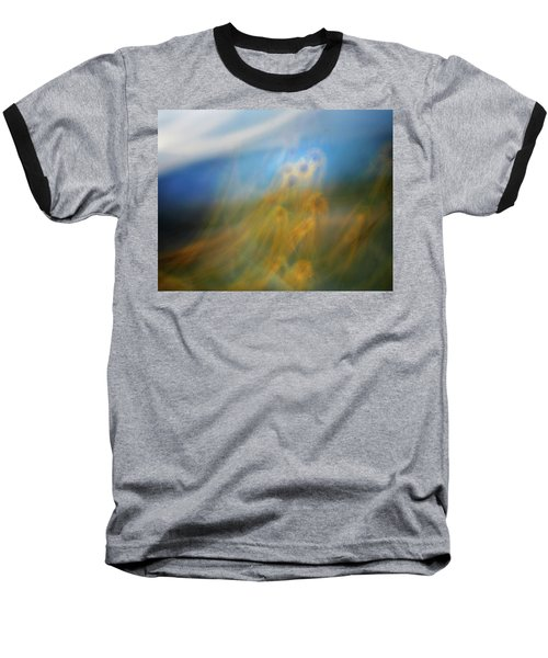 Baseball T-Shirt featuring the photograph Abstract Sunflowers by Marilyn Hunt