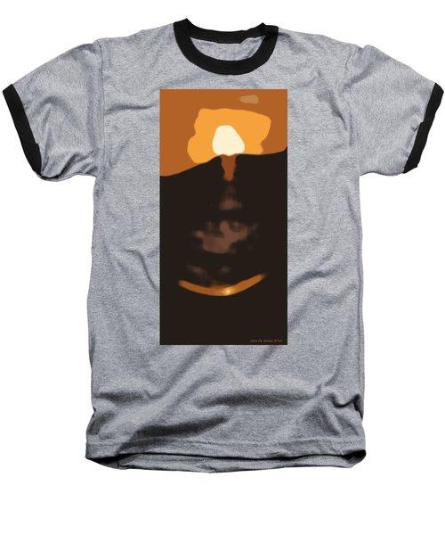 Abstract Sunset 33 Baseball T-Shirt