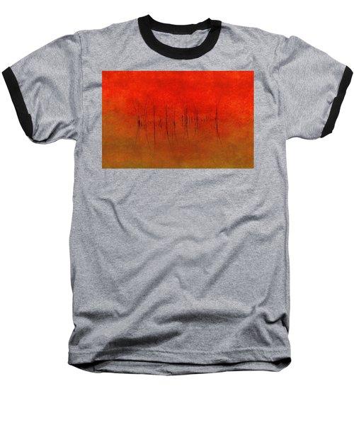 Abstract Sunset  Baseball T-Shirt by Andrea Kollo