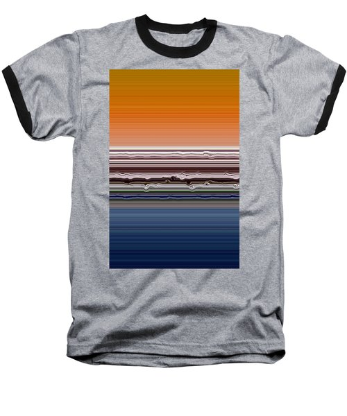 Abstract Sunset Baseball T-Shirt